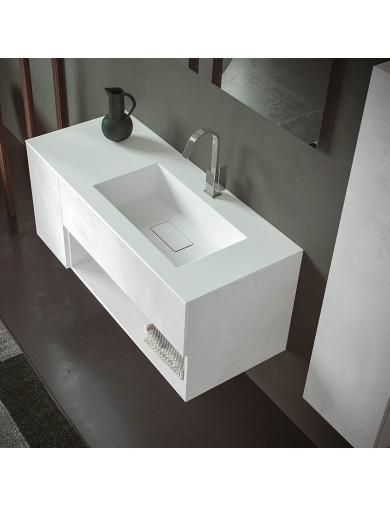 mobile evo50 cm120 sx progettobagno finitura ice