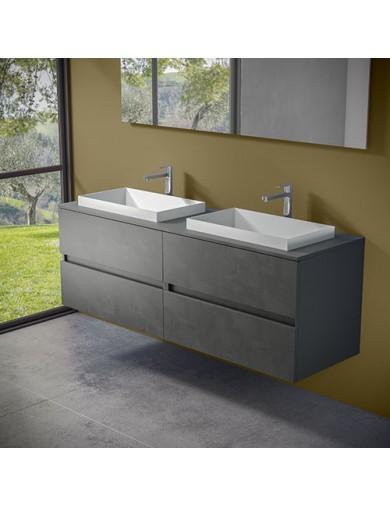mobile evo 54 doppio lavabo ely60 progettobagno finitura dark