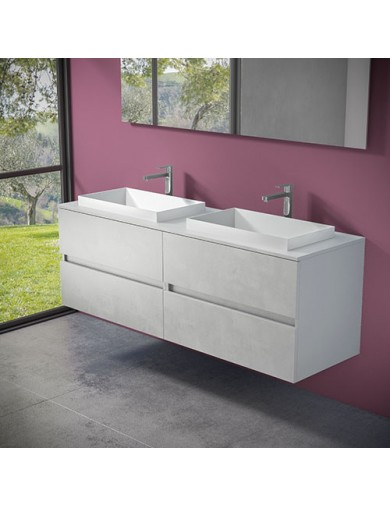 mobile evo 54 doppio lavabo ely60 progettobagno finitura ice