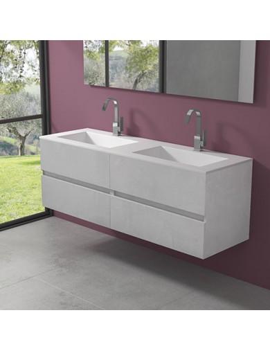 mobile evo54  cm160 doppio lavabo hiden progettobagno finitura ice