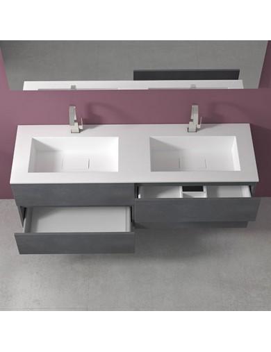 mobile evo54  cm160 doppio lavabo hiden progettobagno interno