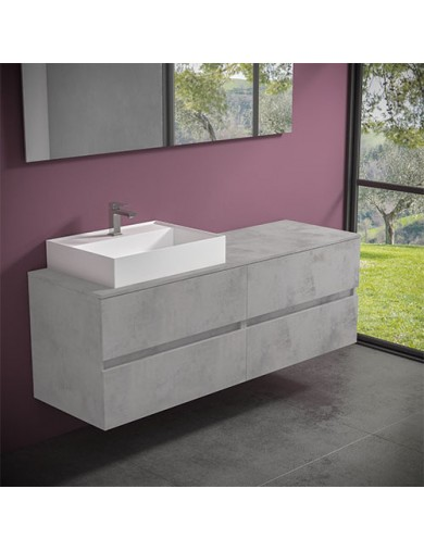 Mobile Evo 54 cm160 con lavabo Ely60 Progettobagno