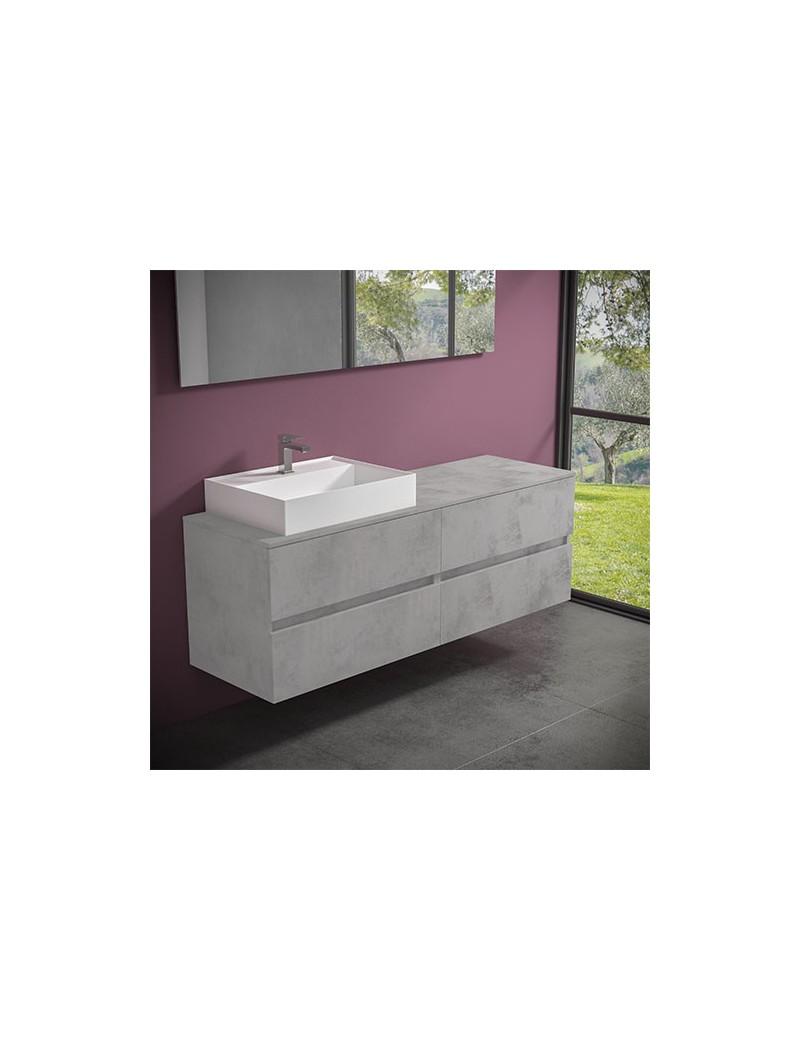 mobile evo 54 cm160 lavabo ely60 sx progettobagno finitura light