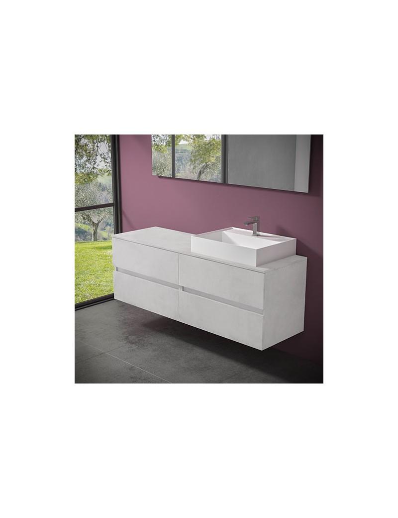 mobile evo 54 cm160 lavabo ely60 dx progettobagno finitura ice